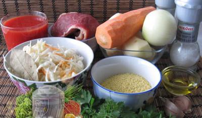 необходимые для готовки продукты