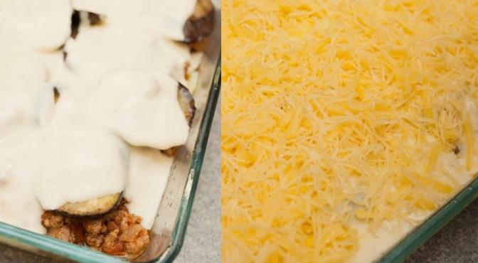 блюдо, засыпанное тертым сыром