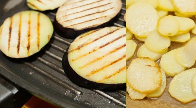 картофель и баклажаны