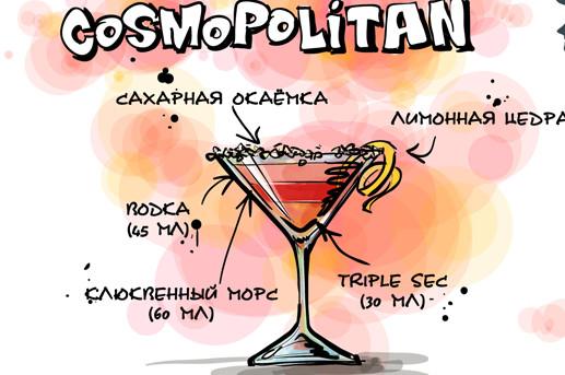 состав cosmopolitan напитка