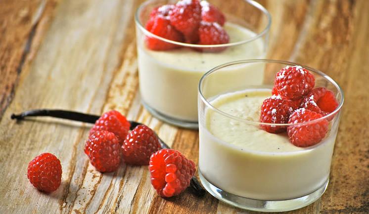 творожная панакота с молоком