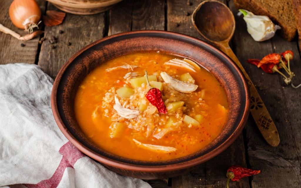 суп с заготовкой салата