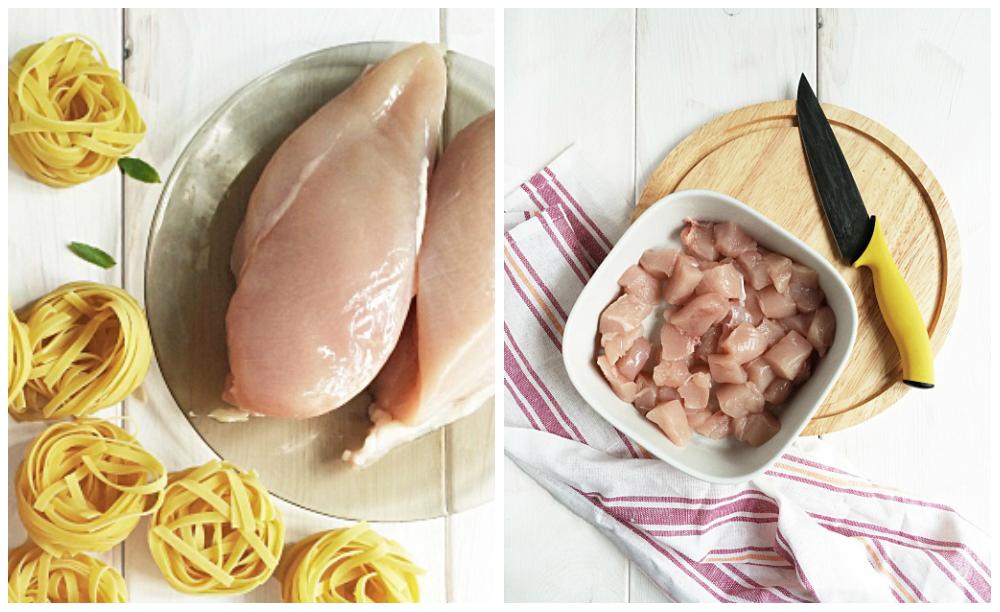 фетучини с курицей в сливочном соусе рецепт с фото