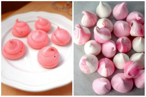 розовое пирожное