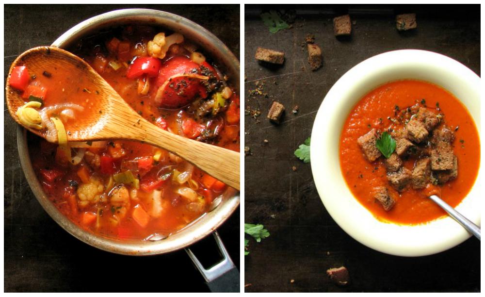помидорное блюдо