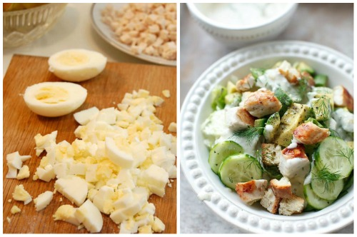 отварные яйца для блюда