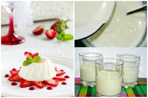желейно-творожный десерт