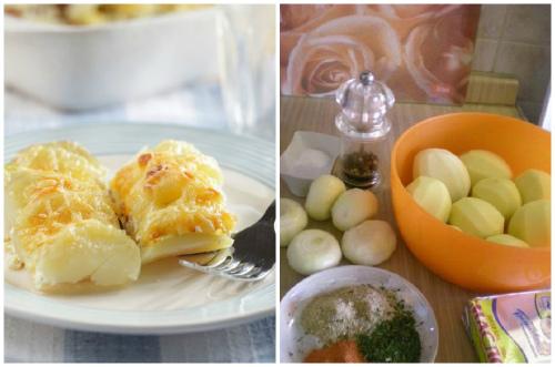 составляющие для французского блюда