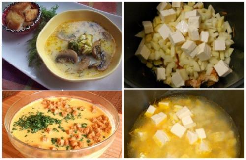 приготовление сырного супа