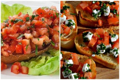 рецепт с топпингом из помидоров и сыра
