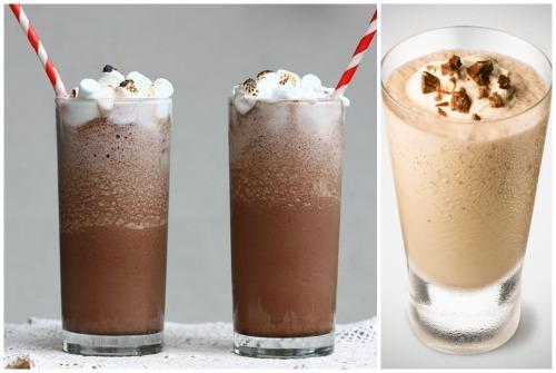 шоколадные смузи с мороженым