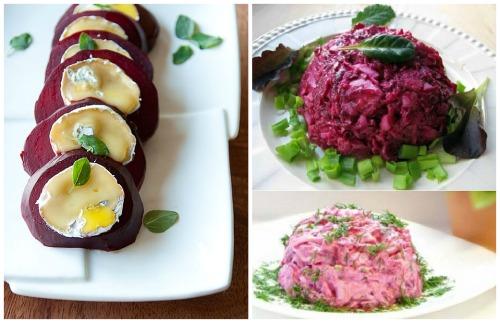 сырный салат со свеклой и пармезаном