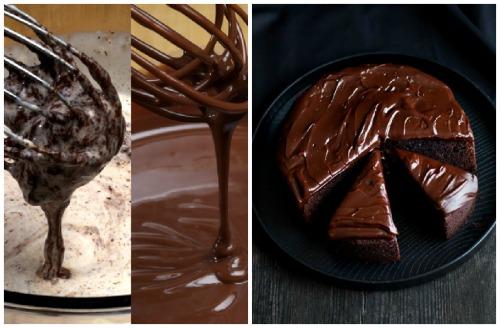 темная глазурь на торте