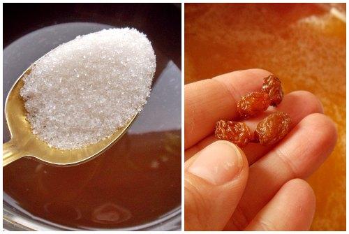 сахар и изюм