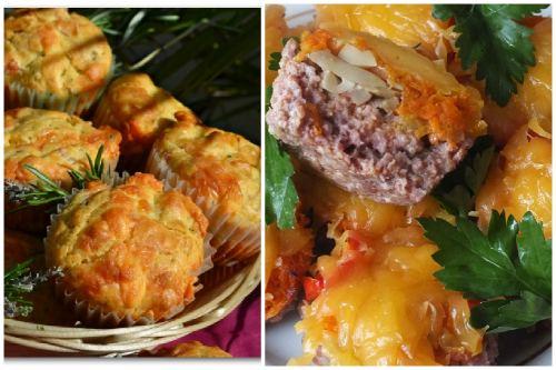 сыр, мясо и грибы