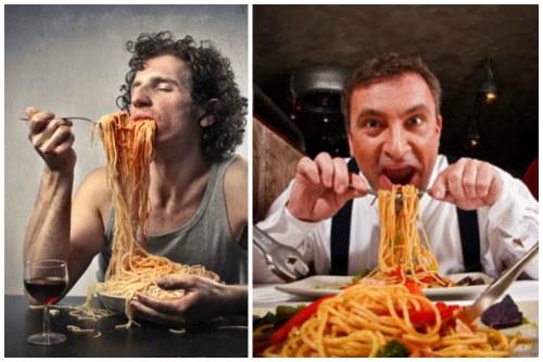 так не надо есть спагетти