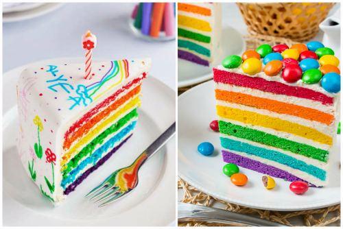 Кусочек разноцветного лакомства