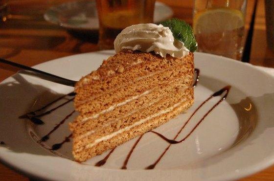Медовый тортик с заварным кремом