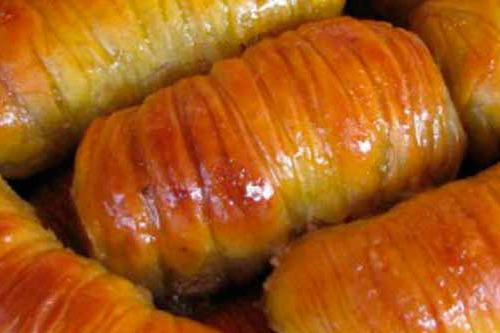Турецкая сладость в виде трубочек