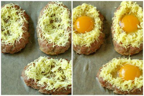 Лодочки с разбитым яичком и сыром