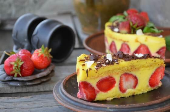 Французский торт Fraisier