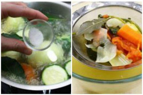 Приготовление овощного бульона