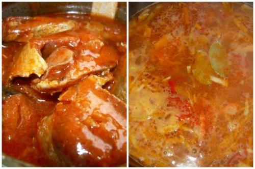 Консервы в томате и готовка щей в мультиварке