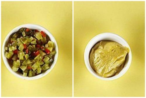 Овощной маринад и сладкая горчица