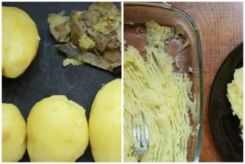 Подготавливаем картофель и делаем пюре