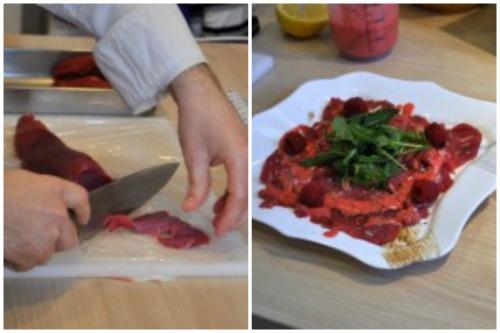 Нарезка ломтиков и оформление блюда