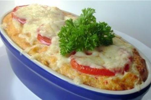 С сыром и помидорами