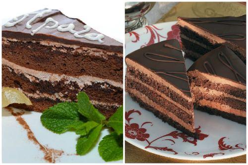 Кусочек популярного десерта