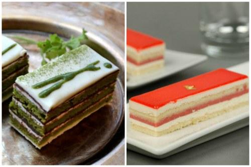 Разновидности Оперы: малиновая и с зеленым чаем