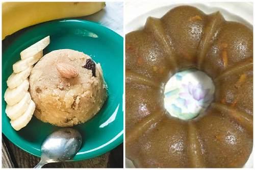 Подача манного десерта