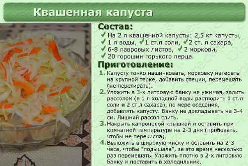 рецепт капусты