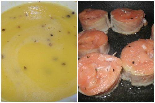 Апельсиновый соус и лососевые заготовки