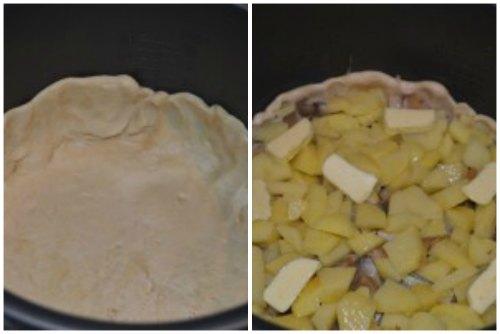 Тесто и картофель