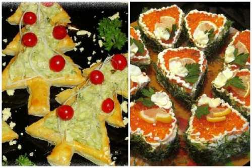 Новогоднее оформление бутербродиков