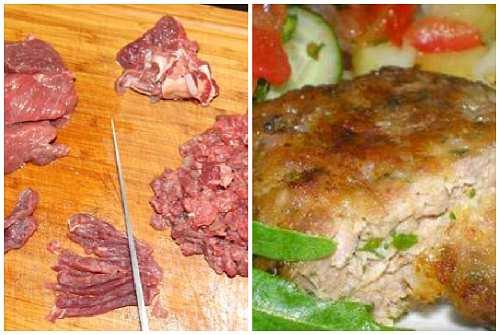 из рубленного мяса