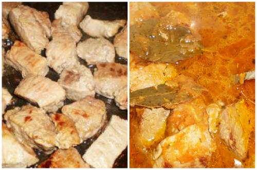 Мясо и подливка