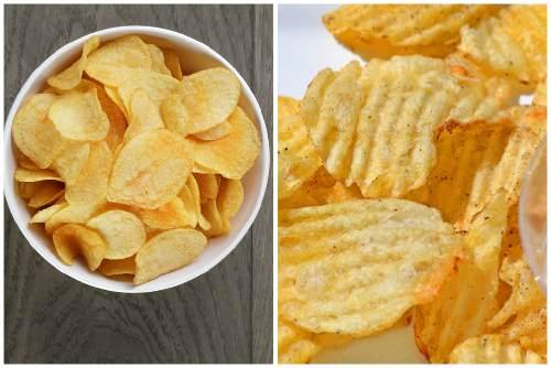 Обычные и рифленые чипсы