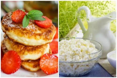 Сырники и творожок с молоком