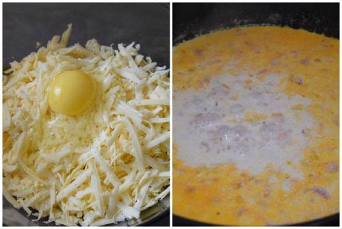 Сырная начинка и сливочный соус