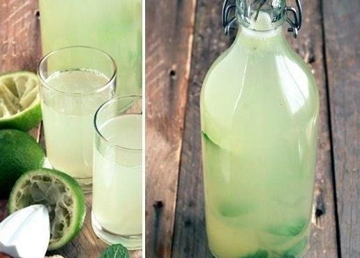 бутыль с лаймовым лимонадом
