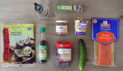 продукты для приготовления ролл