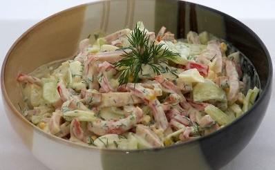 готовый салат в миске