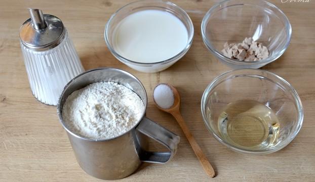 ингредиенты на готовку чесночных пампушек