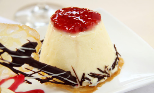 красиво оформленное сладкое блюдо