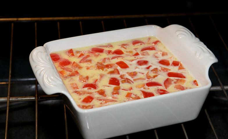 готовка блюда в духовке