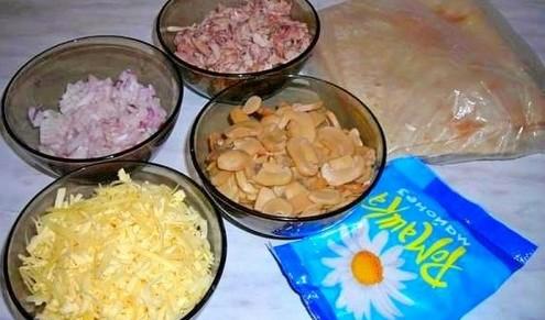 нужные продукты на готовку